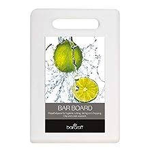 "KitchenCraft Small Non-Toxic Plastic Chopping Board, 25 x 15 cm (10"" x 6"") - White"