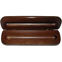6X Bois de noyer Pen Box pour 1