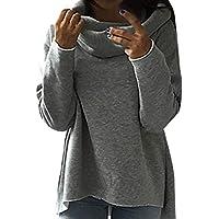 LILICAT✈ 2019 Moda Color sólido Cuello Redondo Suéter de Manga Larga Mujer Color Puro Camiseta de Moda Blusa para Mujer Negro, Gris, S/M/L/XL