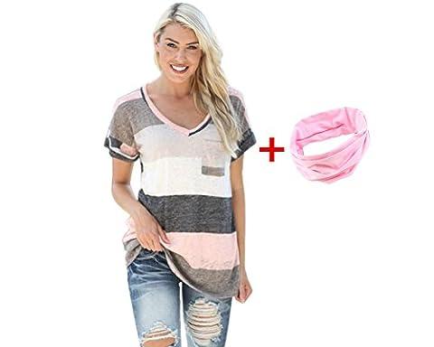 Yogogo - Femmes T shirt - vrac Casual Bouton Blouse