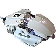 Woxter GX 250 M - Ratón Gaming  retroiluminado (Chipset Avago 5050, sensor de alta precisión ajustable, 800/1200/1600/2000 DPI)