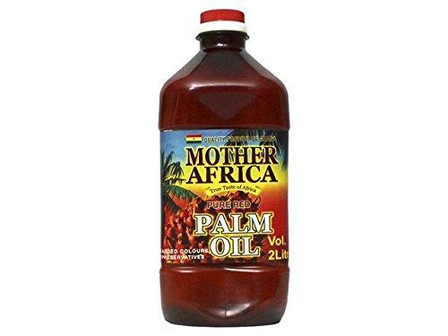 Preisvergleich Produktbild [ 2 Liter ] MOTHER AFRICA Rotes Palmöl Palm Öl / Pure Red Palm Oil