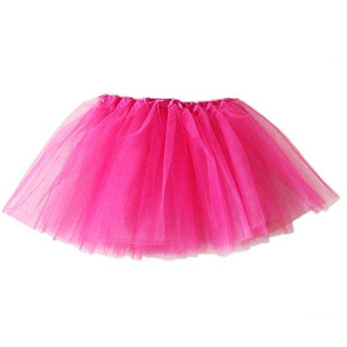 Baby kleidung, erthome Baby Mädchen Solide Tutu Ballett Röcke Fancy Party Rock (Pink, 3-10 Jahre (17.3