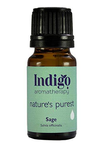 Indigo Herbs Salbei ätherisches öl 10ml - 100% reines (Wasserdampfdestillation) -