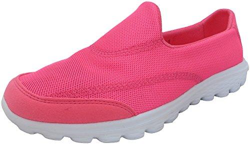 Damen Go Wandern Bekomme Passform Turnschuhe Sportschuhe Athletic Laufschuhe Sport Fitness DEK Hot Pink Breathable Mesh