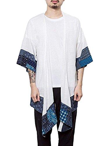 Burlady Herren Japan Happi Kimono Haori Jacke Übergangsjacke Mäntel