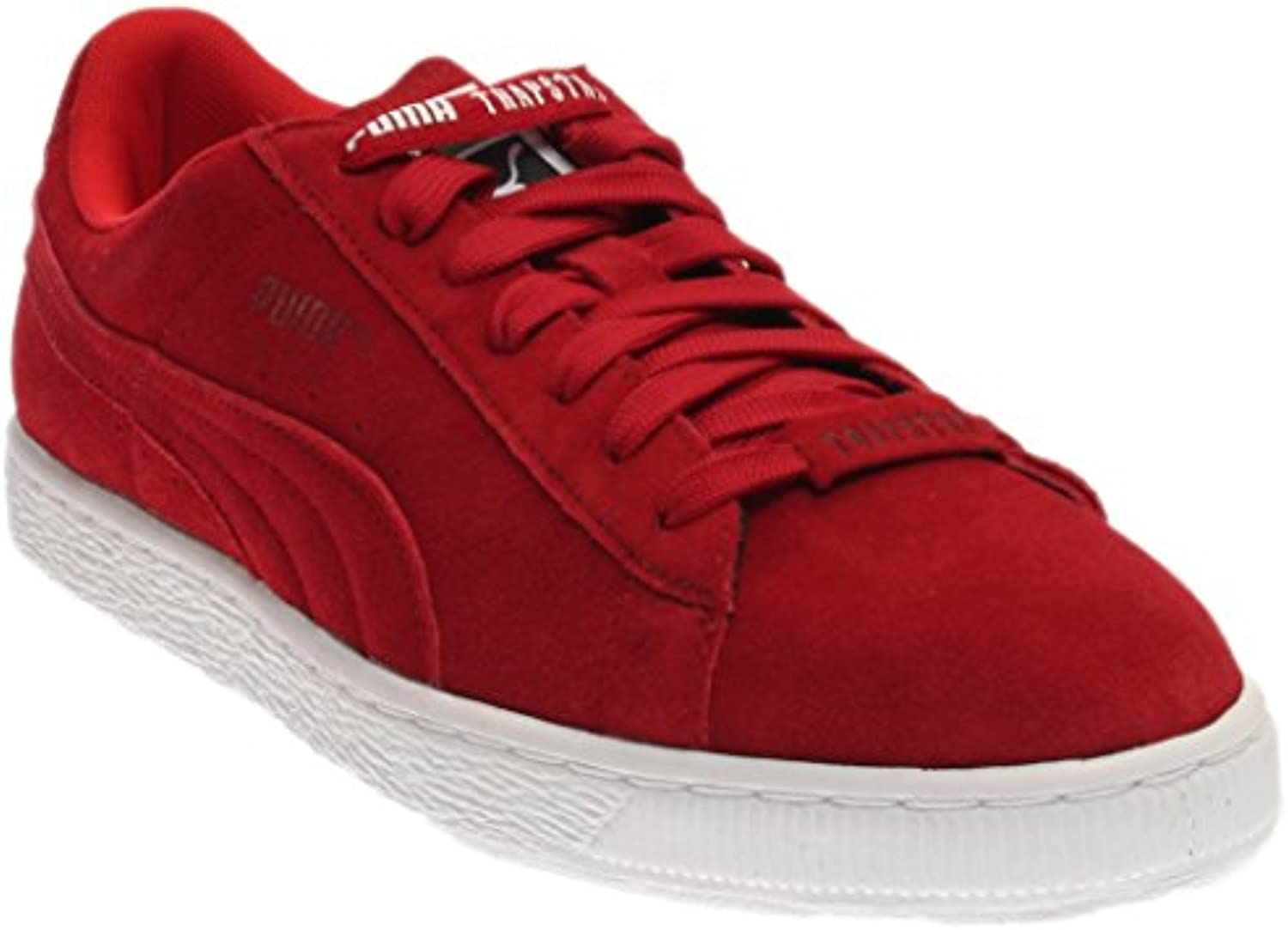 Puma Suede X Trapstar Men Round Toe Suede Red Sneakers