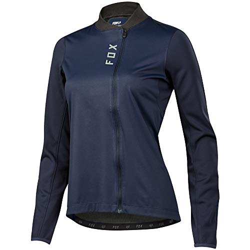 Fox Damen Attack Thermo Langarmshirt, Navy, XL - Fox Racing Jersey-stretch