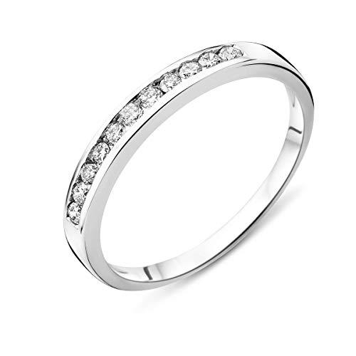 Miore Ring Damen Weißgold Diamant Hochzeitsband 14KT (585) mit Diamant Brillanten 0.20 ct