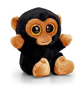 Animotsu SF1660 - Chimpancé de Peluche, acompañante Mullido con Grandes Ojos Brillantes, Aprox. 15 cm