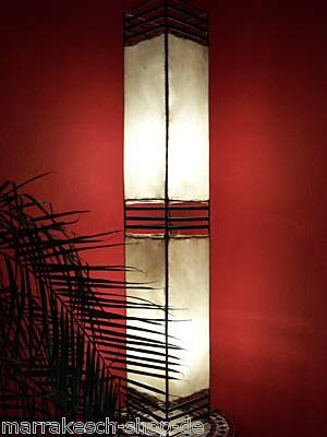 Arabische Stehlampe Koutoubia Natur 120cm von Marrakesch auf Lampenhans.de