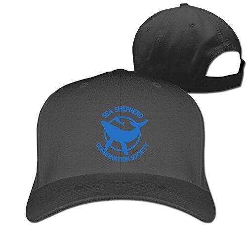 f1691313d0b BestKK Black Sea Shepherd Whale Logo Adjustable Sports Hat