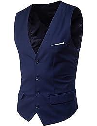 Boom Fashion Mode Gilet Veston Veste Costume Sans Manches Slim fit Homme Mariage