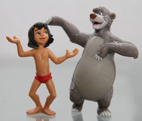 Bullyland - Che Libro della giungla MOGLI & BONUCCELLI - Figura : Bonuccelli il Orso - circa 8 cm / mogli circa 6,5 cm - Walt Disney