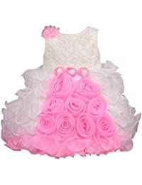 Wish Karo Baby Girls Frock Birthday Dress for Girls - Tissue - (bxa170)