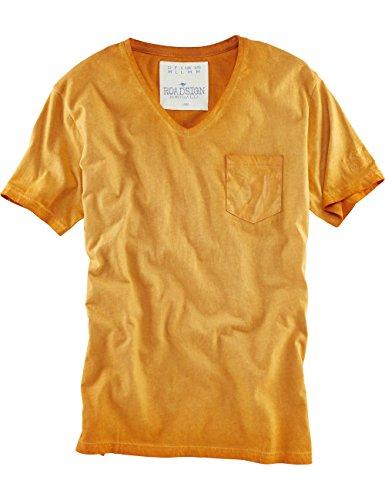 ROADSIGN australia V-Neck T-Shirt Casual Friday Orange