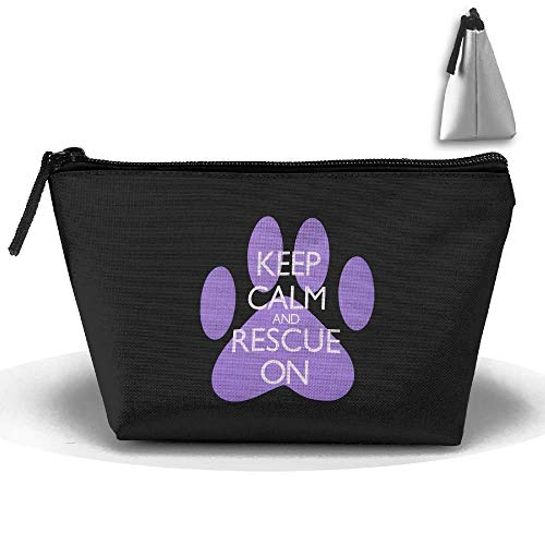 Trapez Reise Make-up Taschen Kulturbeutel Tragbare Stiftetui Fall Keep Calm And Rescue On Clutch Bag (Caboodles Große Make-up Fall)