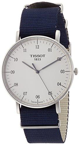 Tissot Reloj Analógico para Unisex Adultos de Cuarzo con Correa en Tela T1096101703700