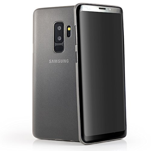 QUADOCTA Samsung Galaxy S9 + Plus Premium Handyhülle - Tenuis Ultra Light & Slim - Schutzhülle Smart Case Hardcase Hülle | Slim Fit - Extrem dünn & leicht | Lichtdurchlässig in Grau Unterstützt Qi Ultra Light Case