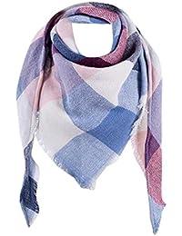 3a9cb4f0ec51 Malloom® Femme Echarpe Châle Cachemire Automne Plaid Treillis Laine foulard