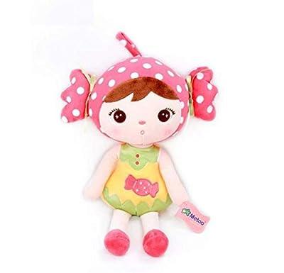 WYBL Muñeca Mini Felpa Dulce Lindo Relleno Mochila Colgante Niños Niños Juguetes para Niñas Cumpleaños Sombrero Rosa de WYBL