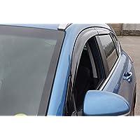 Autoclover - Juego de deflectores de Viento para Hyundai Tucson 2004-2010 (4 Piezas