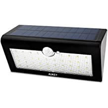 AUKEY Solar Lights, 38 LEDs Outdoor Wall Mounted Security Garden Lights, Large Solar Panels Powered Motion Sensor Light
