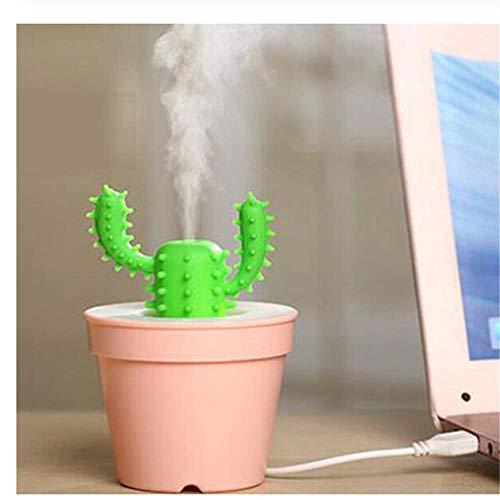 SunLively Creatividad Cactus Humidificador Mist Maker Ultrasónico Aroma Eléctrico Esencial con Luz Aroma 200 Ml