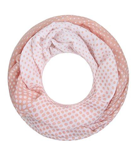 Majea NEUE Saison Damen Loop Schal viele Farben Muster Schlauchschal Halstuch in aktuellen Trendfarben (rosa 23)
