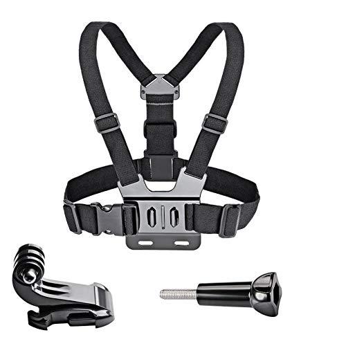 HibiscusElla Adjustable Chest Body Strap Mount Harness Belt for Gopro Hero 2/3/3+/4/5/6 Chest Mount Harness