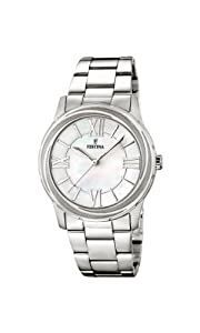 Festina F16722/1 - Reloj de cuarzo para mujer, con correa de acero inoxidable, color plateado de Festina