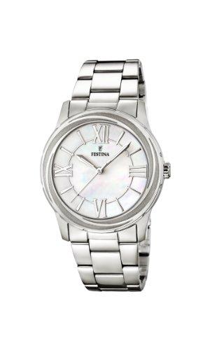 Festina  F16722/1 – Reloj de cuarzo para mujer, con correa de acero inoxidable, color plateado