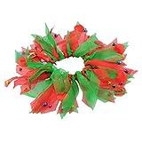 CricTeQleap Weihnachten Hundehalsband, Hündchen Bunten Ribbon Halsband Halstuch Haustier Weihnachten Halloween Zubehör Red Green* M
