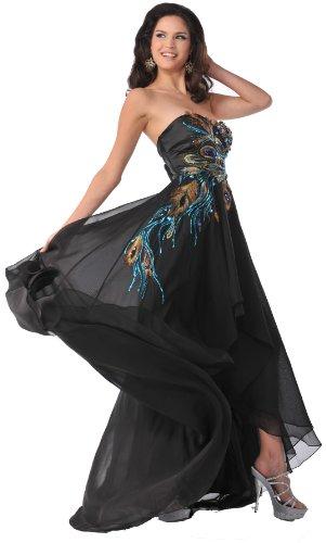 meier-mujer-sin-tirantes-pavo-real-bordado-de-gasa-vestido