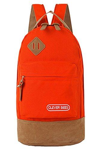 Baymate Unisex Spalla Zaino Borsa Da Scuola Laptop Escursionismo Viaggio Campeggio Zaino Rosso