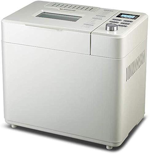 ALYR automáticos Panificadora, Programable Panificadoras con 18 programas de Frutas y nueces Dispensador para Home Bakery,White