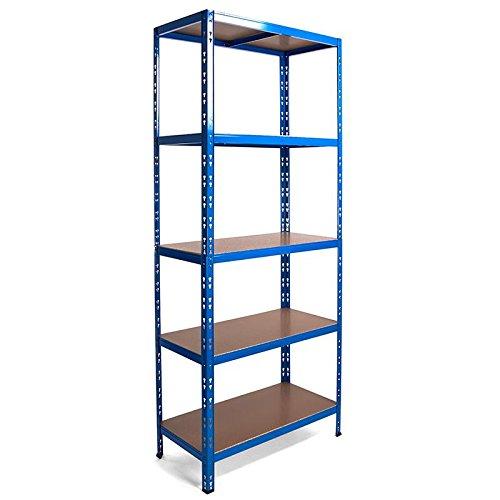 Steckregal Schwerlastregal in blau 180 x 90 x 40 cm 5 Böden mit je 175 kg Tragkraft