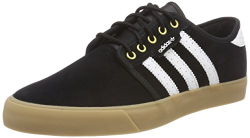 adidas Men's Seeley Skateboarding Shoes, Core BlackFootwear WhiteGold Metallic 0 8 UK