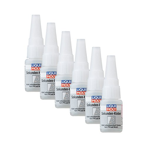 6x LIQUI MOLY 3805 Sekunden-Kleber Super Glue Instant 10g