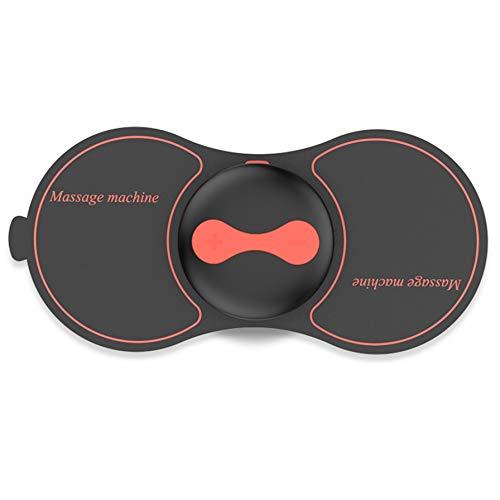 Leecee Tens Electroestimulador Muscular Inalámbrico, Mini TENS Masajeador para Espalda Cuello abdomen Cervical Gluteos Hombro, USB recargable, 2 Electrodos, Negro