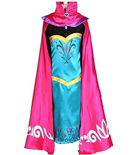 Kostüm Prinzessin Vampir Mädchen - Kosplay Mädchen Prinzessin Kostüm Eiskönigin Kleid für Mädchen Schmetterling Karneval Verkleidung Party Cosplay Faschingskostüm Festkleid Weinachten Halloween Fest Kleid, Blau, Gr. 130