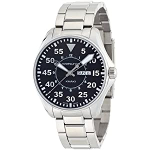 Hamilton Reloj Analogico para Hombre de Cuarzo con Correa en Acero Inoxidable H64611135