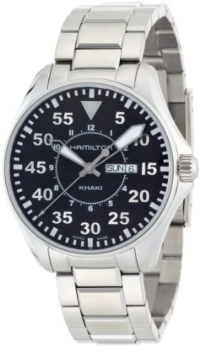HAMILTON MEN'S 42MM STEEL BRACELET & CASE SWISS QUARTZ ANALOG WATCH H64611135