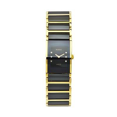 Rado Integral Jubile R20789752 Ladies Black Leather Diamonds Ceramic Case Watch