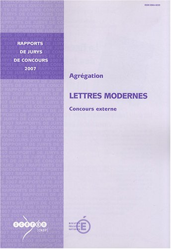 Agrégation Lettres modernes : Concours externe