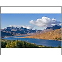 20x16 Print of The road to the Scottish Highlands passing Loch Loyne and the distant (13265133)