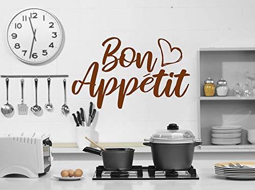 fancjj Französisch Küche Dekor Bon Wandaufkleber Land Küche Abziehbilder Wand 29x51cm wandaufkleber Blumen küche Schmetterling kinderzimmer mädchen Punkte Spiegel -