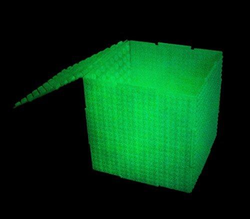 Strictly Briks THE CUBE - Baustein-Set mit Aufbewahrungsbox - 6 steckbare doppelseitige Platten mit großen & kleinen Noppen - kompatibel mit allen großen Marken - Patent angemeldet - 6,5