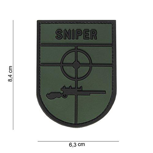 Tactical Attack Sniper Abzeichen Softair Sniper PVC Patch Logo Klett inkl gegenseite zum aufnähen Paintball Airsoft Abzeichen Fun Outdoor Freizeit