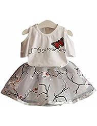 Mono Niñas Koly Body para bebés, top y Flor falda (100)